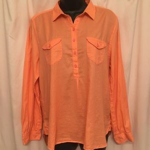American Eagle dark peach blouse- size Large